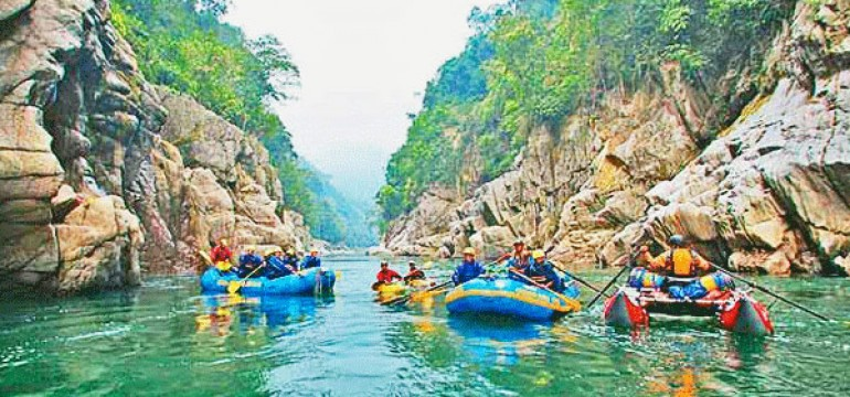 Top Places for River Rafting In India