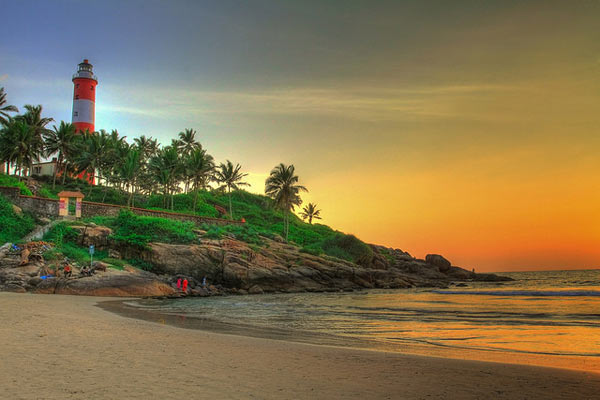 Kovalam, Kerala, Famous Sunset Point In India