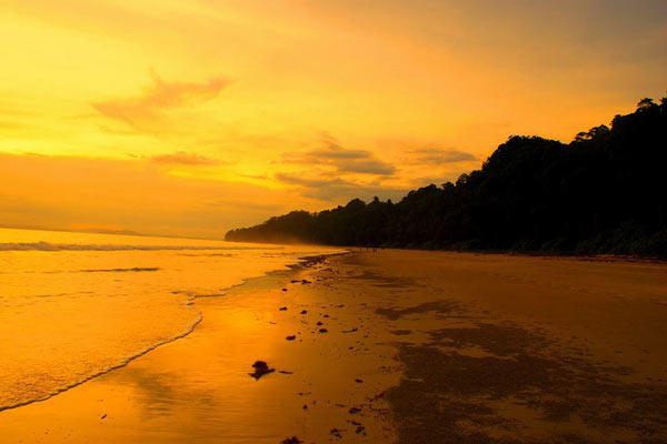 Radhanagar Beach, Havelock Islands Best Sunset point in india