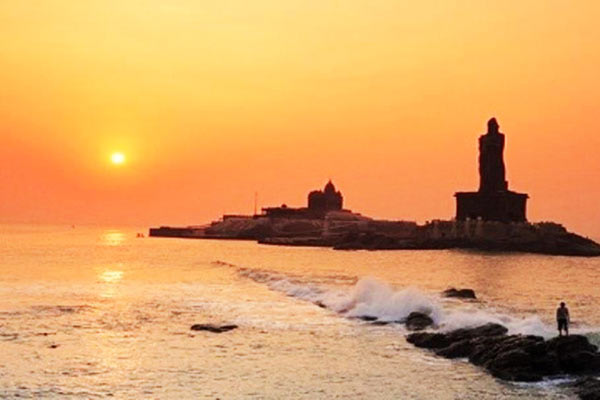 Vivekanand Rock, Kanyakumari  Sunset Point In India