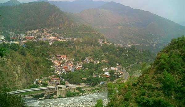 Chamba from across the river, Himachal Pradesh