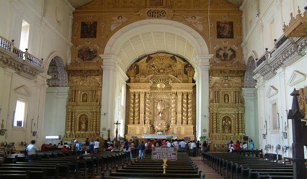 Interior of Basilica of Bom Jesus Church