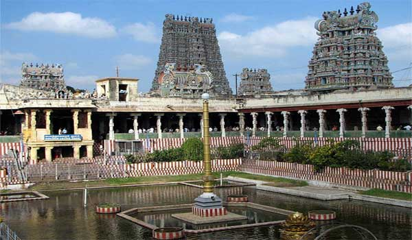 The historic hindu temple in the temple city Madhurai