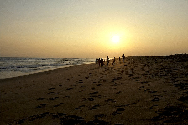 Puri Beach in Orissa