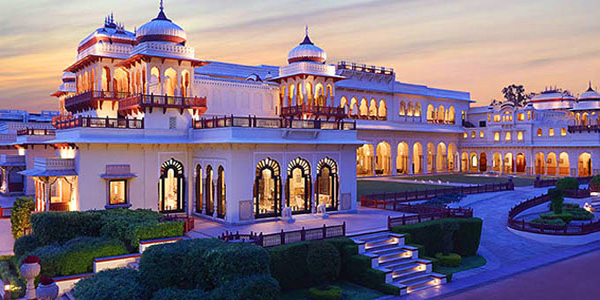 Rambagh Palace Hotel in Rajasthan