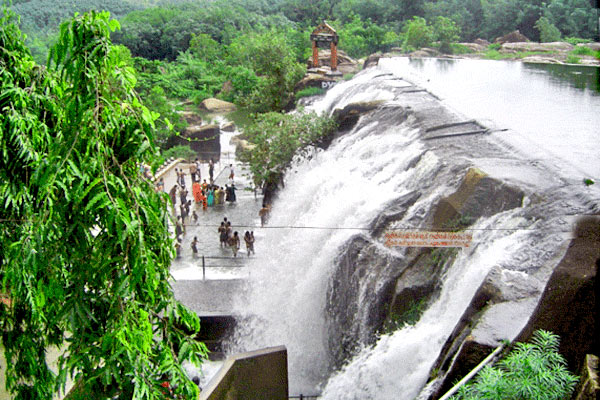 Thiruparappu Waterfall in Kanyakumari