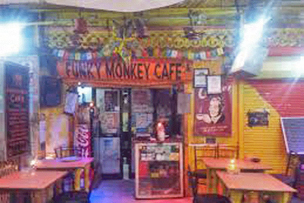 Funky Monkey Cafe in Pushkar