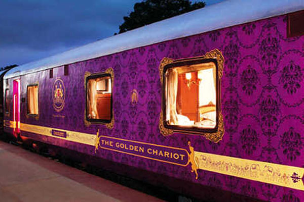 Golden Chariot, famous luxury trains in india