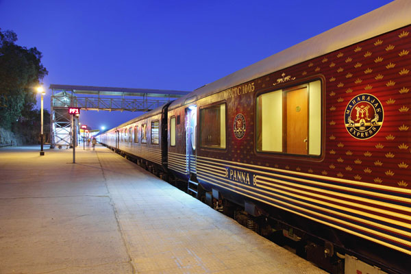 Maharajas Express luxury train in India