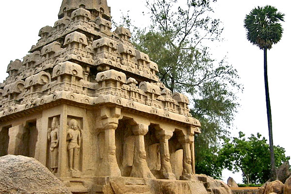 Top Cave Temple in Mahabalipuram